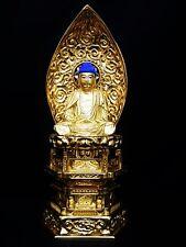 Japanese Japan,religious Buddhism Buddha statue 27cm 岡