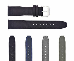 20-22MM CANVAS LEATHER WATCH BAND STRAP FOR IWC PILOT TOP GUN PORTUGUESE + BUCKL