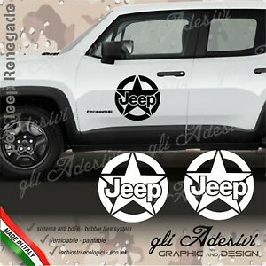 Adhesives Jeep Renegade And Wrangler For Door Side Stella Logo Jeep