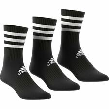 Adidas Sports Socks - 3-Stripes Cushioned Crew Socks 3 Pairs - Black
