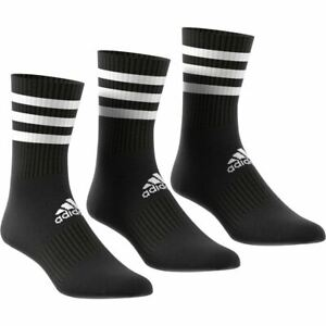 Adidas Sports Socks - 3-Stripes Cushioned Crew Socks 3 Pairs - Black