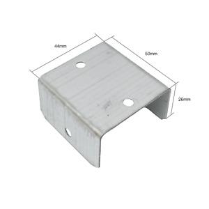 PACK OF 10 - 44mm FENCE & TRELLIS CLIPS BRACKET PANEL FIXING GARDEN POST FENCING