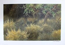 Robert Bateman Hand Signed Numbered Limited Sierra Evening Mexican Wolf 1994