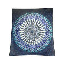 Copriletto matrimoniale indiano mandala Paisley blu  turchese 230x210 cm cotone
