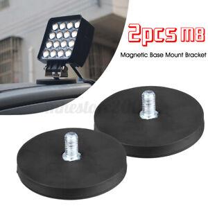 2x 66mm Magnetic Base Mount Bracket Sucker Holder Clamp LED Work Light Bulb Bar
