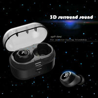 True Wireless Bluetooth 5.0 Earbuds Headphones In-Ear Headset w/ Charging Case