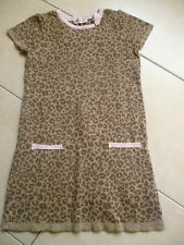Schöne H&M Kleid Gr.122/128 Strick Strickkleid  braun Tigeroptik