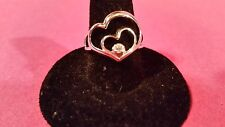 Avon Sterling Silver Hearts Intertwined Motherly Love Ring Size 7
