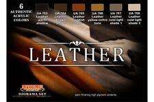LifeColor CS30 Diorama Set Leather 6x 22ml Acrylic Colours