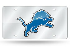 Detroit Lions Mirrored Laser Cut License Plate Laser Tag