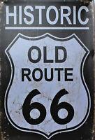 """Route 66  Retro Blechschild   Neu  Straßenschild der """"Mother Road"""" 20 x 30 cm"""