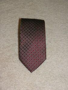 Ermenegildo Zegna Current Dark Red Foulard Classic Width Silk Tie