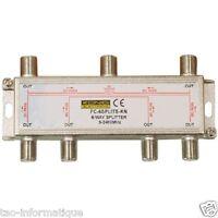 Verteiler Antennen TV-anschluss oder sat 1 Eingang 6 Ausgänge mit Durchgang CC