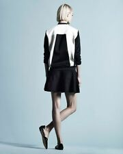 Helmut Lang Gloss Knit Baseball Jacket Chalk/Black NWT $495 SzS/UK10