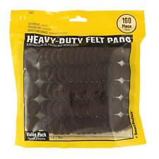 Heavy Duty Self Adhesive Furniture Felt Pads 1-Inch Round 160-Piece Value Pack