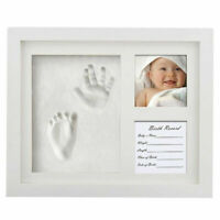 Baby Clay  Hands & Foot Print Cast Kit & 2 Photo Picture Frame Christening Gifts