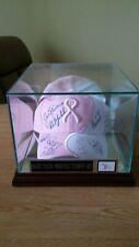 Golf Lpga/Pga Stars Autographed Breast Awareness Baseball Hat With Display Case