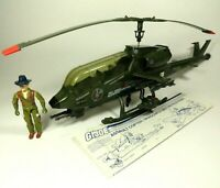 Vintage 1983 Gi Joe Dragonfly Helicoptor With Pilot Wild Bill Hasbro