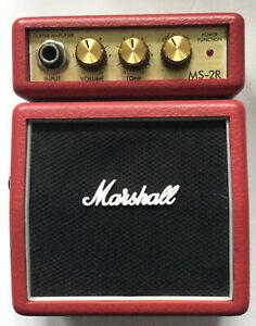 Marshall MS-2R 1 Watt Micro Guitar Amplifier Mini Amp Red - VGC