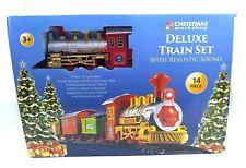 Deluxe Train Set mit realistischem SOUND 14 teilig Kinder Spielzeug