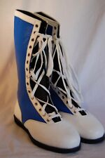 Blue & White Pro Wrestling Boots Size 13 Adult New Lucha Libre Gear WWE Outfit