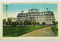 Washington DC First Division Monument & War and State Department Postcard J12