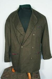 VINTAGE 1980'S DARK GREEN WOOL TYROLEAN JACKET SIZE LARGE