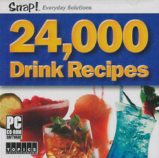 24000 DRINK RECIPES Coctail Mixing Guide PC Windows NEW How To Alcohol DIY