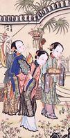 STUNNING ORIGINAL ASIAN ART CHINESE FIGURE WATERCOLOR PAINTING-Sexy Beauty girl