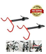 Set of 2 - Bike Bicycle Storage Hanger Rack Garage Wall Mount Holder Heavy Duty