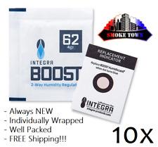 10x Pack Integra Boost 62% 4 Gram 2 Way Humidity Packs + FREE Shipping!