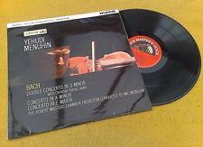 """"""" Bach Concertos """" Menuhin Super Early Mono Gb LP Alp 1760"""