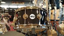 DW Drum Workshop Collectors 6.5x14 Black Nickel Over Brass Snare Drum Gold HW