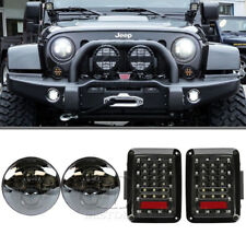 7 inch LED Hi/Lo Beam Headlight & Rear Reverse Brake Light For Jeep Wrangler JK