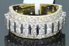 10K YELLOW GOLD 3.29 CARAT MENS REAL DIAMOND ENGAGEMENT WEDDING PINKY RING BAND