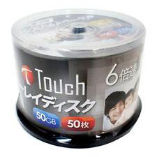 50 Touch Blank Bluray Discs 50GB BD-R DL 6x blu ray dvd