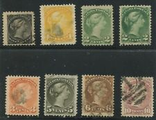 Canada 1870-77 Small Queen set #34-40 used