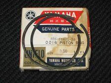 69-73 SL338 NOS YAMAHA 2ND OVER SIZE 2 OVERSIZE PISTON RINGS SET 806-11601-20-00