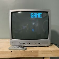 """RETRO GAMING TV & REMOTE Emerson EWT19S3 19"""" CRT Television Front A/V Inputs"""