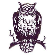 SIZZIX / TIM HOLTZ THINLITS CUTTING DIE - ORNATE OWL - 662380 Halloween