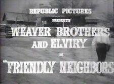 FRIENDLY NEIGHBORS 1940 (DVD) THE WEAVER FAMILY, CLIFF EDWARDS