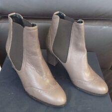 Alberto Zago Vitello Taupe Leather Ankle Boots - size 36 / uk 3.5 - new in box