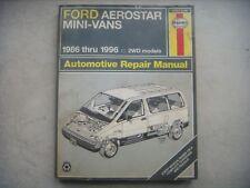 Ford Aerostar Mini-Vans Haynes Repair Manual, Service Guide 86-96. Book 36004