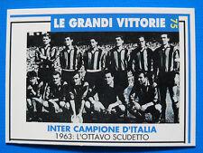 MASTERS CARDS INTER - N. 75 - LE GRANDI VITTORIE - 1963: L'OTTAVO SCUDETTO