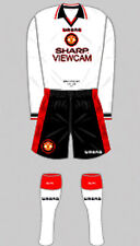 Mens Football Shirt & Socks Kit - Manchester United - Away 1996 Umbro Sharp XXL