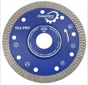 Classicpro Porcelain Tile Turbo Diamond Dry Cutting blade/Disc wheel 115mm UK