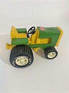 Vintage TONKA FARM TRACTOR 811002 Green  & Yellow Toy