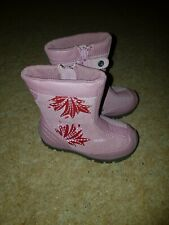 Geox Toddler Girls 4.5 Pink Leather Boots