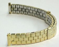 Voguestrap Watch Band Vintage Slide Adjustable Brick Link Yellow Tone Stretch