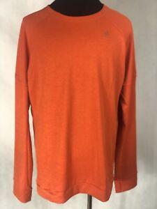 ADDIDAS Orange  Long Sleeve Pullover Shirt XL NWT